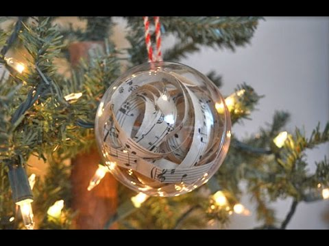 How to Make Sheet Music Ornaments