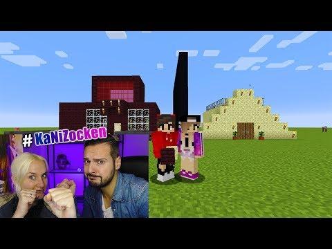 NINAS HOLZ HAUS Vs KAANS STEIN HAUS MAKE HOLZ GREAT AGAIN - Minecraft haus aus holz oder stein