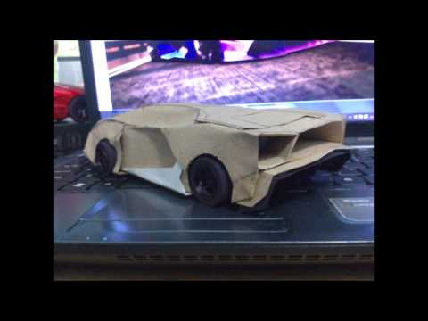 Papercraft new lamborghini design paper model