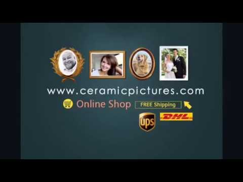 How To Make A Ceramic Pictures For Headstones YouTube - Ceramic photo on headstone