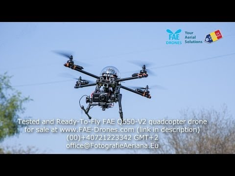 Professional quadcopter drone flight -Ready-To-Fly- FAE Q650-V3 for sale
