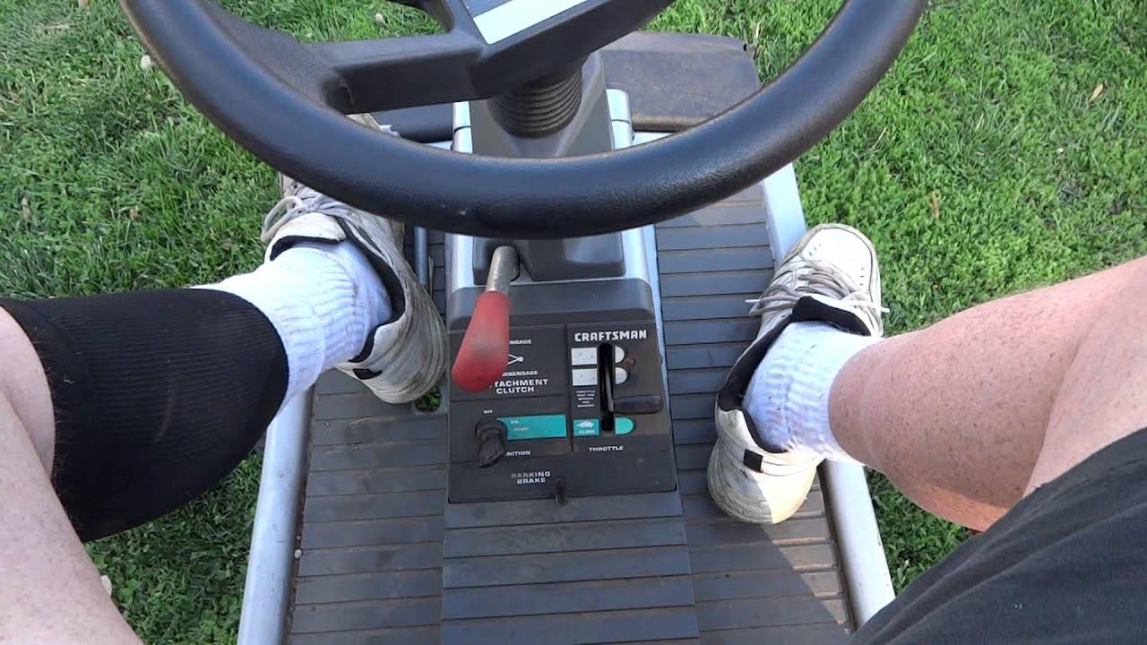 Craftsman 10 Hp 30 Inch Riding Mower Walk Around Youtube