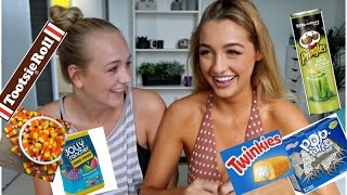 AUSTRALIAN GIRLS TRY AMERICAN CANDY