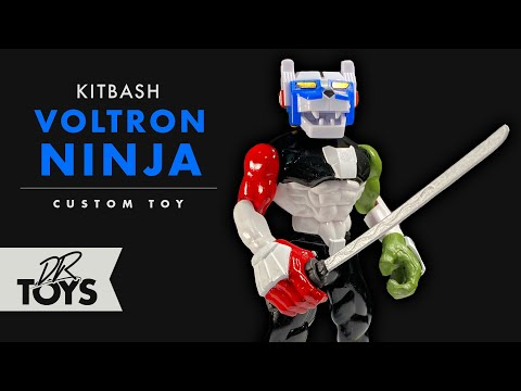 How To Tutorial On Kitbashing A Dollar Tree Toy Ninja Into A Voltron Inspired Custom Toy -