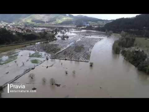 Inundaciones en Pravia enero 2019