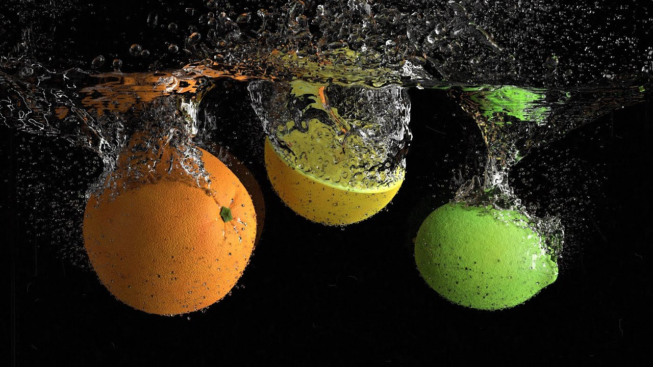 Create a Photorealistic Fruit Splash in Blender - YouTube