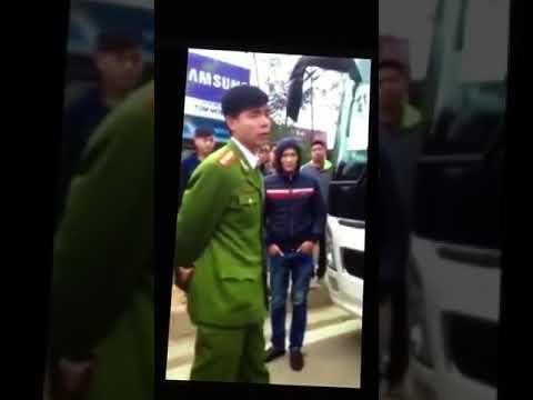 CSGT Bắc Ninh 05 02 2016 Xe SAMSUNG chở công nhân về quê