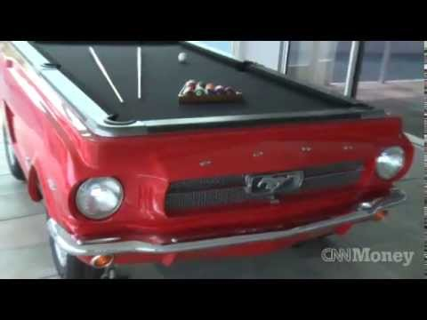 The Making Of A Car Pool Table CNN Moneys Life At The Top YouTube - Mustang pool table