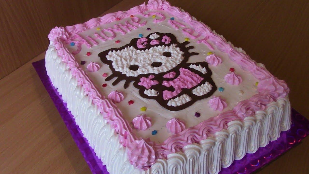 Торт Хелло Китти Hello Kitty Кремовый торт для детей Cake ...