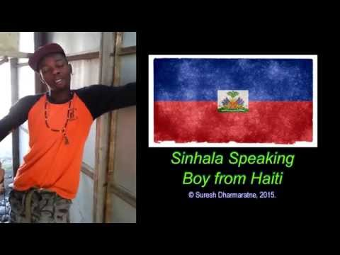 Sinhala Speaking Boy from Haiti.