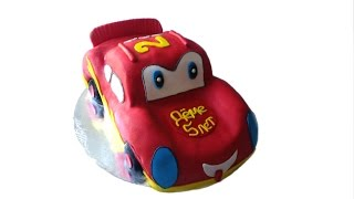 """Молния Маквин"" торт машинка | McQueen Car Cake"