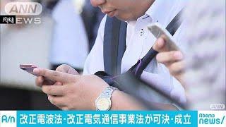 携帯料金の引き下げ「改正電気通信事業法」など成立(19/05/10)