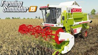 Żniwa kombajnem Claas Dominator - Farming Simulator 19 | #1
