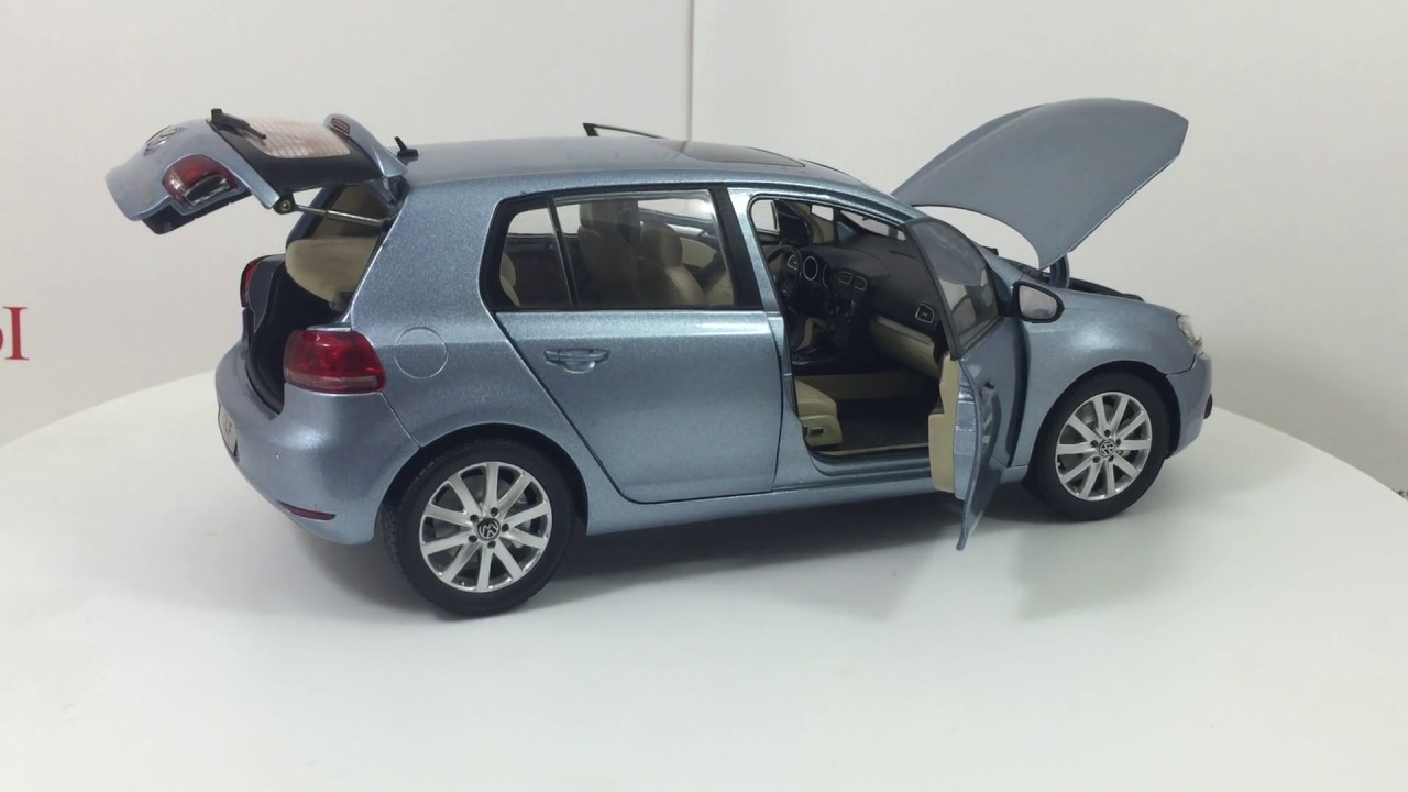 Paudi Model VW Volkswagen Golf A6 2012 Blue 118 Scale Diecast Car