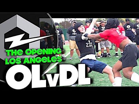 🔥 The Opening Regionals | Los Angeles | OL v DL | 1v1s | Under The Radar Highlight Mix