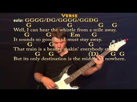 Long Black Train (Josh Turner) Easy Bass in G Major Cover Lesson with Chords/Lyrics