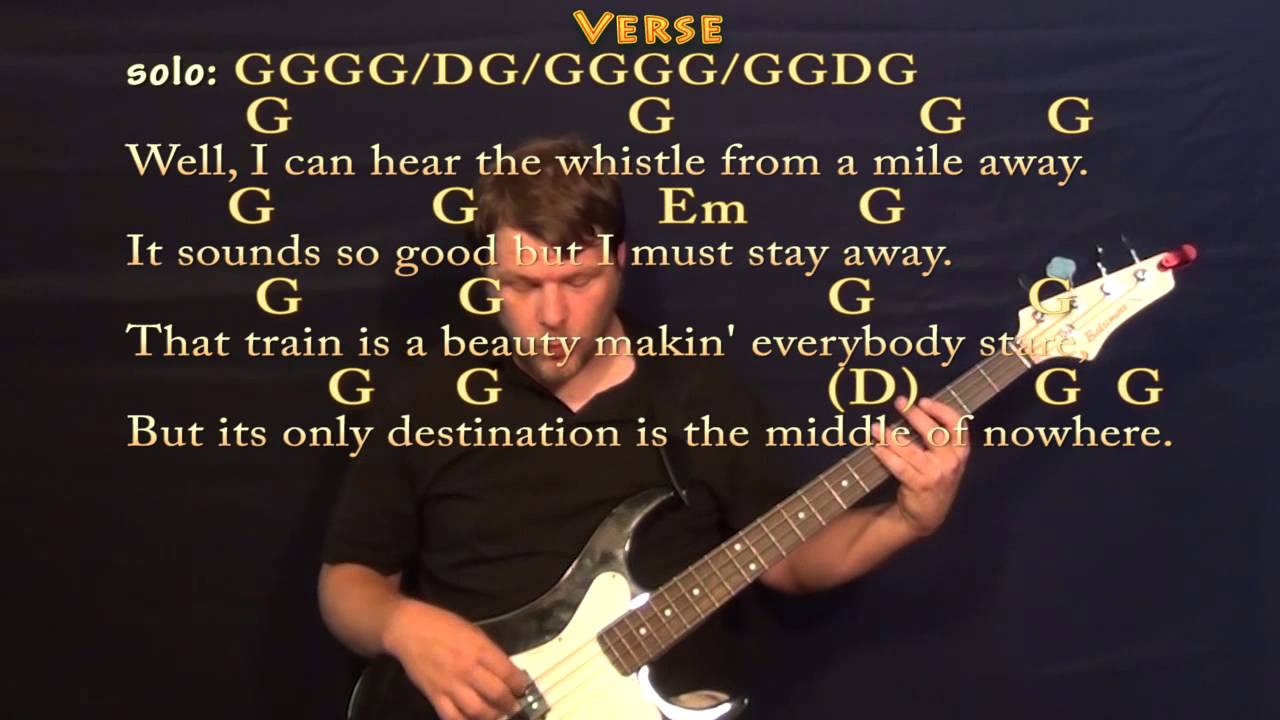 Long Black Train Josh Turner Easy Bass In G Major Cover Lesson