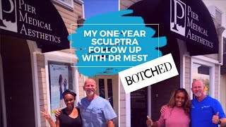 My 1st Filler and Sculptra Follow Up with Dr. Mest #botched