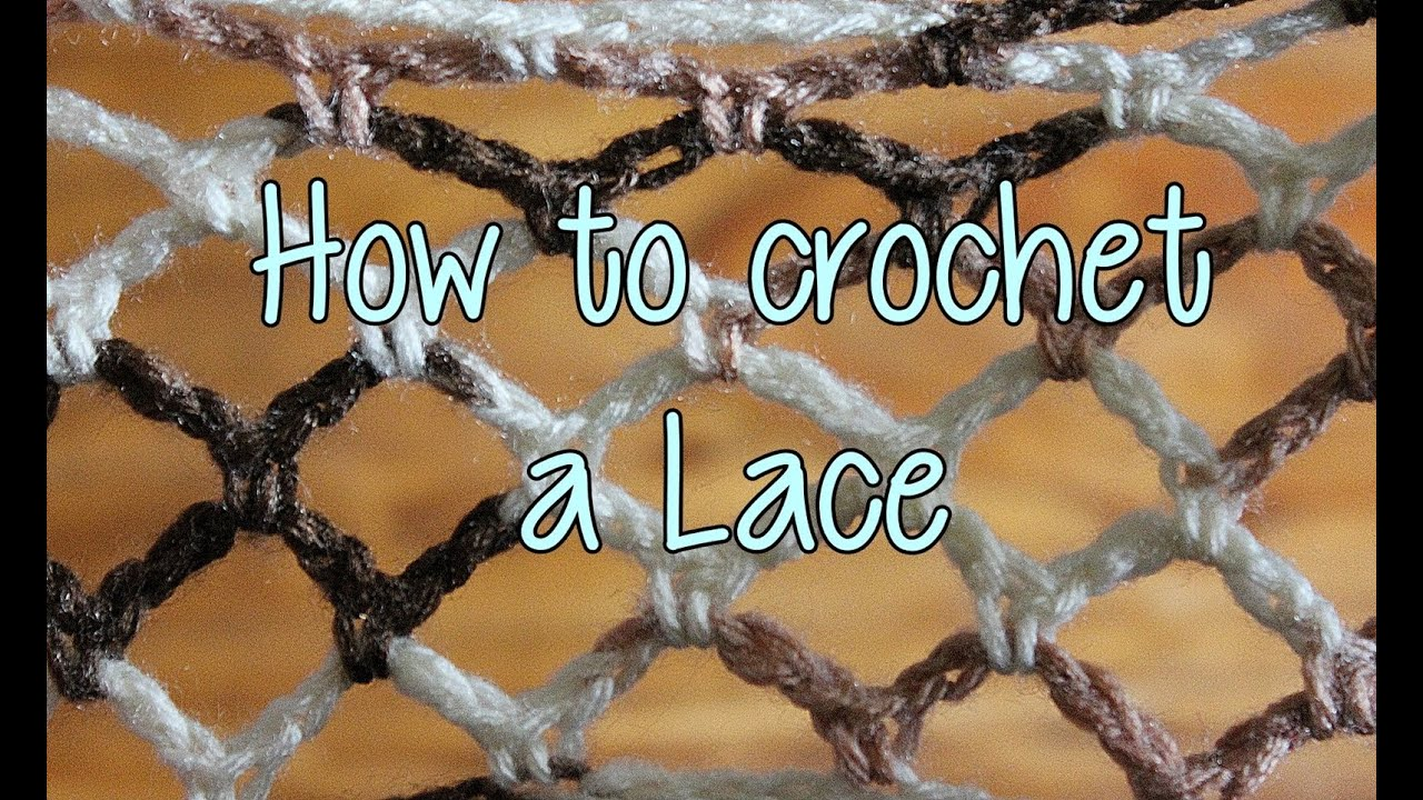 Crocheting Lessons For Beginners : How to crochet a Basic Lace - Crochet Lessons - YouTube