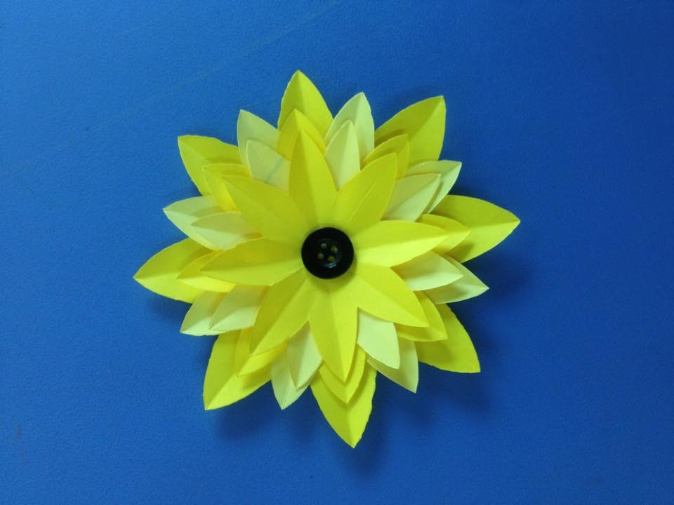 how to make easy origami flowers for beginners