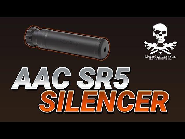 Amazing AR15 Silencer - The AAC SR5