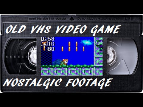 Sonic Chaos Gameplay (Dirty VCR Heads)