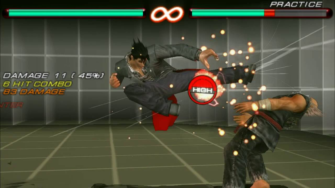Tekken 6 Psp Jin Kazama Combos T7 Mod Youtube