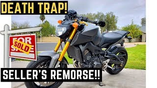 Craigslist Encounters: Selling My Used Death Trap Yamaha FZ09 (MT09)|How to sell a used motorcycle!