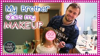 MY BROTHER DOES MY MAKEUP CHALLENGE