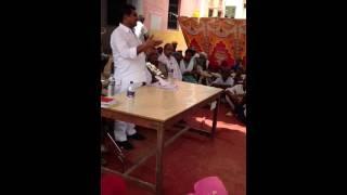 Ram Lal Jat- MLA Bhilwara- addressing people of Amar Garh