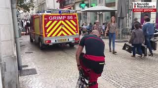 VIDEO. Poitiers : spectaculaire évacuation par la voie des airs avec les pompiers du Grimp
