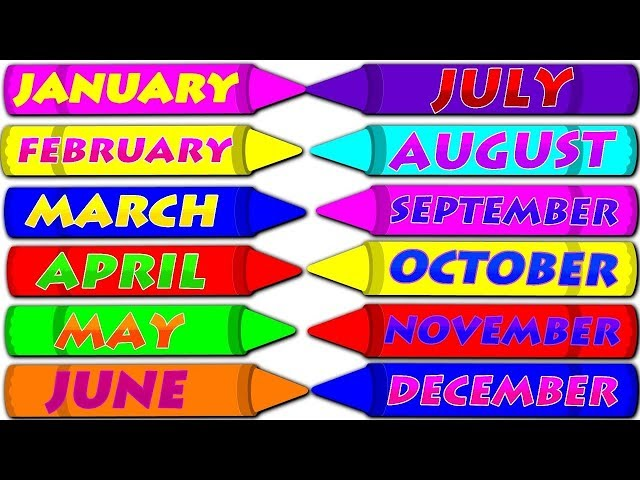 Months of the Year with Spellings|| Slow Version For Kids|| Preschool Learning || Learn Month Names