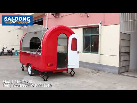 attractive design mobile food snack machinery trailer supplier from china marketing