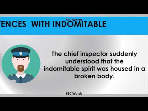indomitable---improve-english---meaning-and-5-sentences---gre-/-cat-/-gmat-word---ssc-words