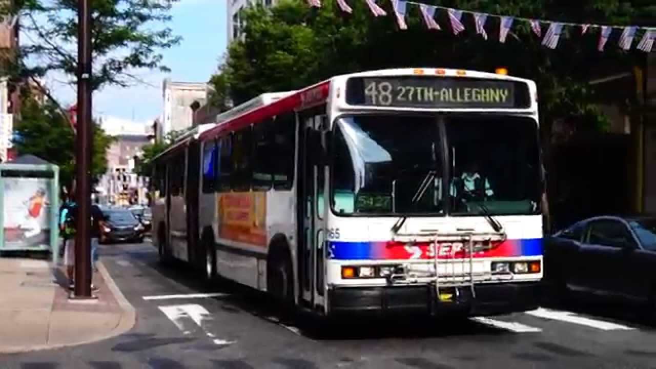 Septa Route 48 Bus On Arch St Youtube