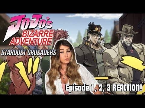 JOTARO! JoJo's Bizarre Adventure: STARDUST CRUSADERS Episode 1, 2, 3 REACTION!