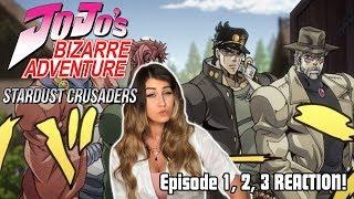 JOTARO JoJo39s Bizarre Adventure STARDUST CRUSADERS Episode 1 2 3 REACTION