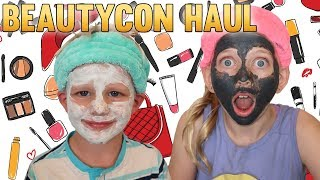BeautyCon Haul! My Brother Tries My Face Masks!