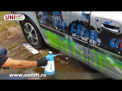Demonstratie curatare vopsea - Smart Graffiti Metal Safe