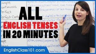 Download lagu ALL English Tenses in 20 Minutes - Basic English Grammar