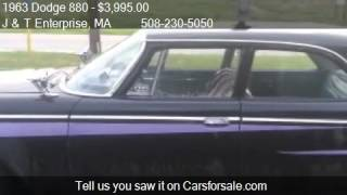 1963 Dodge 880  for sale in North Easton, MA 02356 at the J