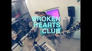 BROKEN HEARTS CLUB performed with freshly formed band, This is our ...