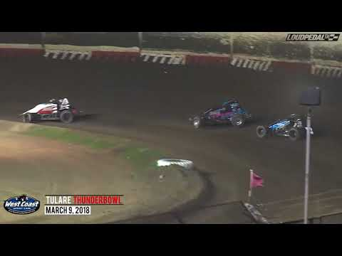 USAC West Coast 360 Sprint Feature Highlights | Tulare Thunderbowl Raceway 3.9.18