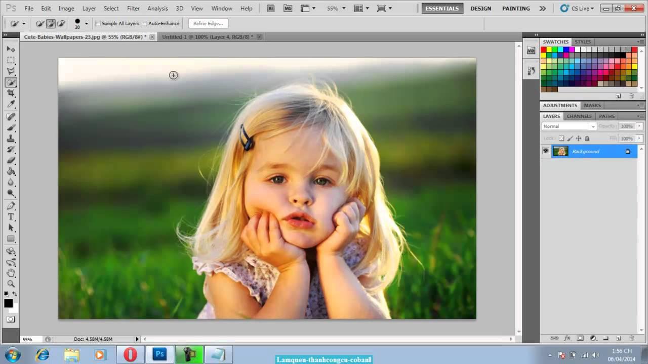 Photoshop cơ bản: Làm quen với thanh công cụ Photoshop