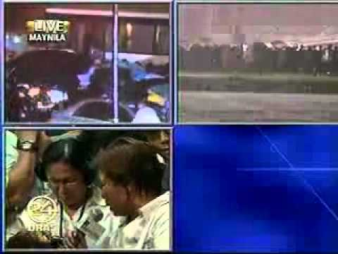 Manila hostage drama  - Video footage of Philippine Tv Station  Part 3.mp4