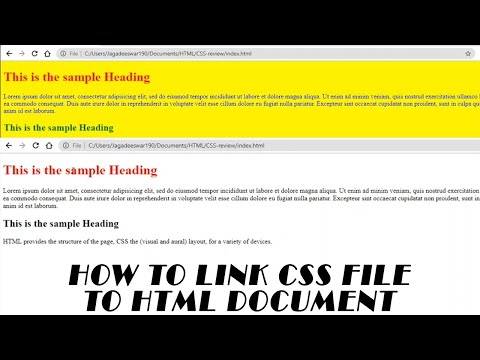 How To Link CSS File To HTML Document | Web Development For Beginners