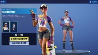 Buying The 'BEACH BOMBER' Complete Set! (40,000 V-Bucks Spending Spree) NEW Fortnite Skin Today