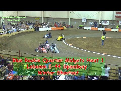 Blue Rookie Quarter Midgets Heat 1   I 44 Speedway Winter Shootout 1 20 2018