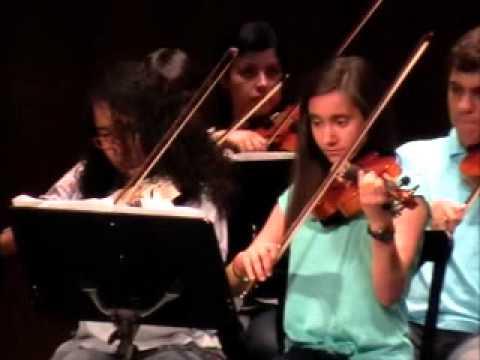 Concierto Fin de curso Escuela Municipal Musica Santa Cruz 2013 Violines