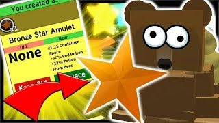 BRONZE STAR AMULET *HUGE* BOOST & 200 ROYAL JELLY USED! | Roblox Bee Swarm Simulator